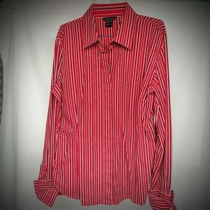 Red Stripe Dress Shirt